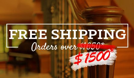 Free Shipping Reduced to $1,500