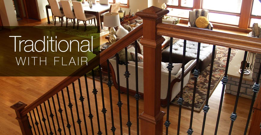 Stair Parts: Handrails, Stair Railing, Balusters, Treads, & Newels ...