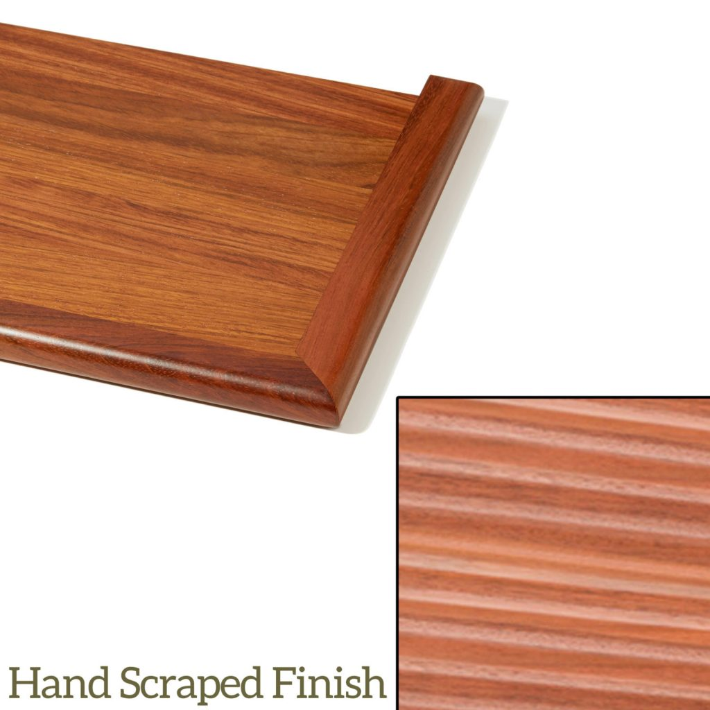 8073 Hand Scraped Replacement Stair Tread   Detail