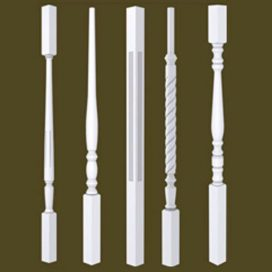 USA Primed Wood Stair Balusters & Spindles