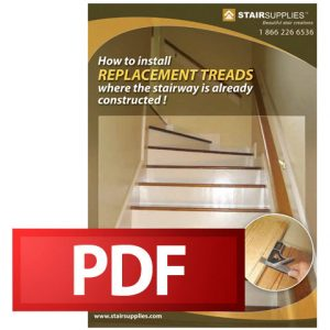How to install replacement treads