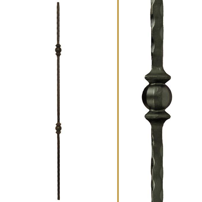 16.1.27 Double Knuckle Iron Baluster - StairSupplies™
