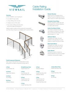 Cable Railing Install