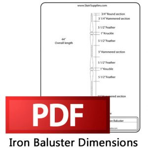 Iron Baluster Dimensions PDF Logo