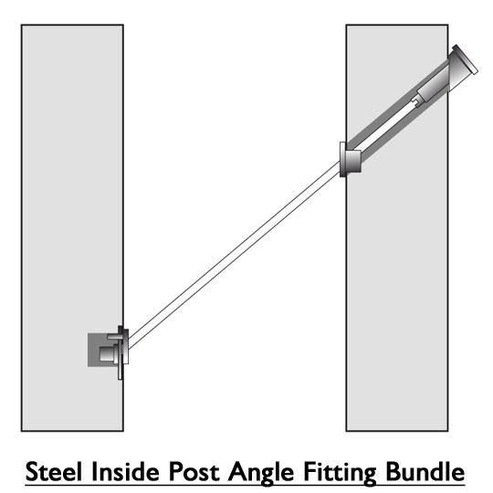 Steel inside post angle fitting bundle diagram