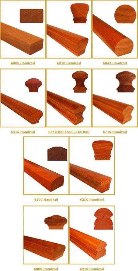 Wood Handrail Samples