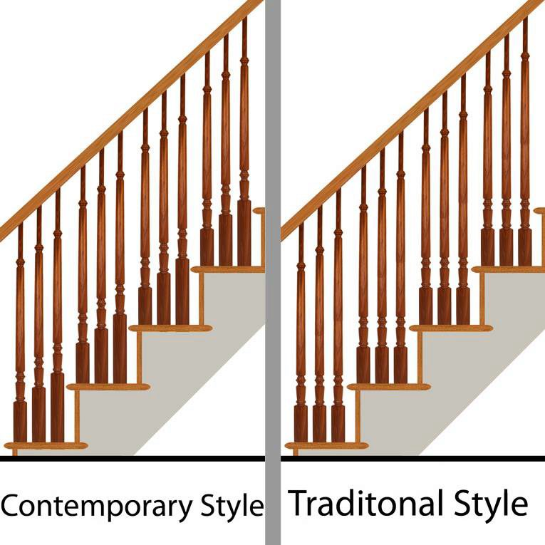 Contemporary vs Traditional Wood Balusters