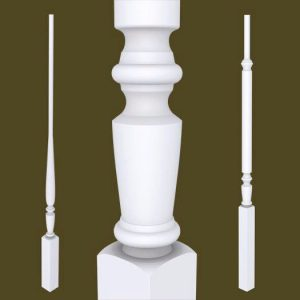 Victorian Series Primed Balusters