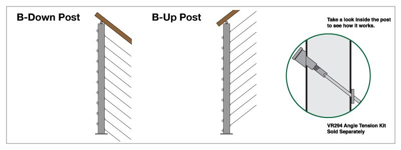 B Post Up & Down Surface Mount