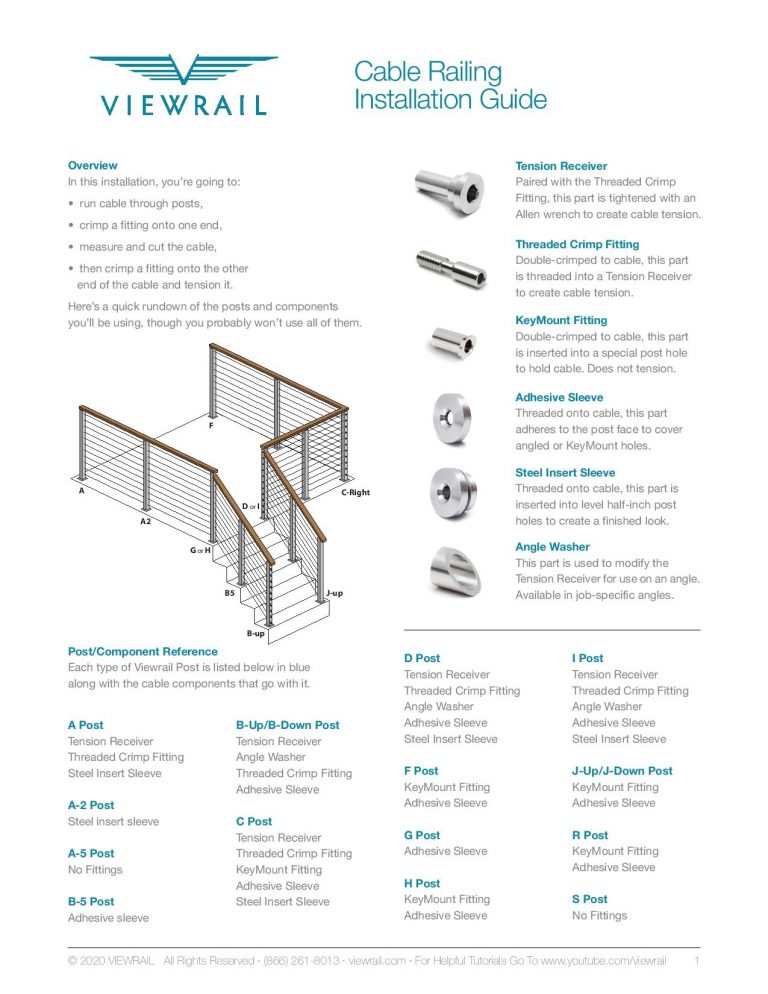 Cable Rail Install Guide