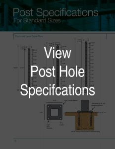 Standard Post Hole Specifications