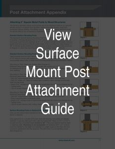 Surface Mount Post Attachment Guide