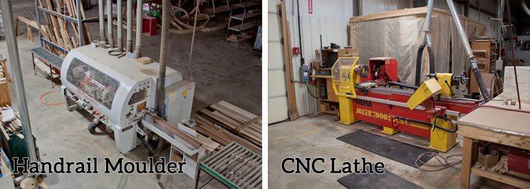 Handrail Moulder & CNC Lathe