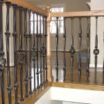 Turned Newels and Iron Balusters