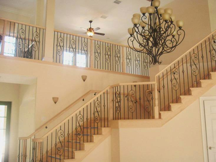 Ornate Scroll Series Iron Balusters