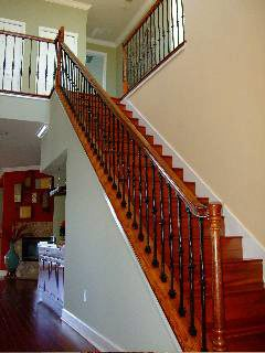 Wood Stair Parts with Beautiful Finish