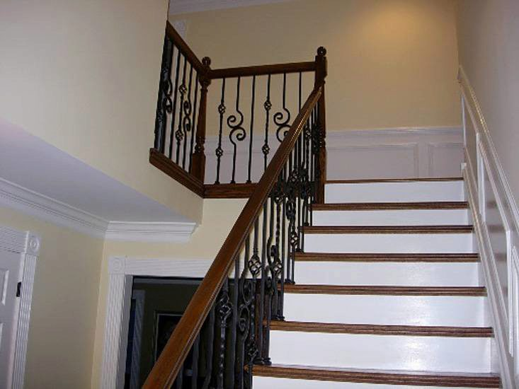 scroll series and twist series iron balusters