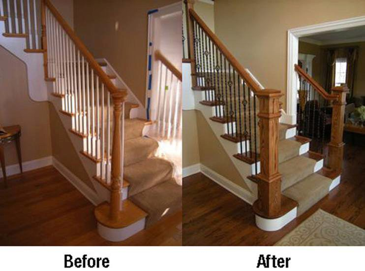 Box newels and wrought iron balusters stairsupplies™