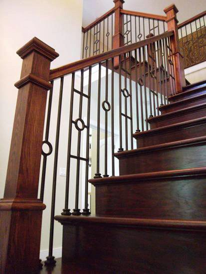 Balusters and Box Newels in a Modern Home