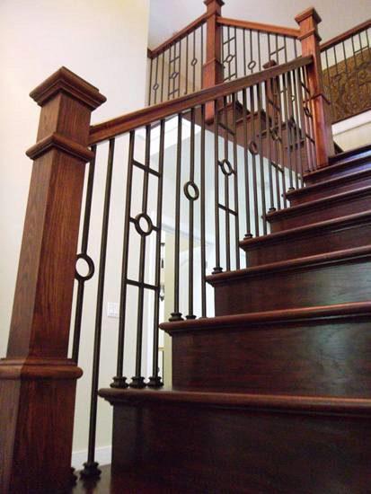 16 1 30 Single Circle Iron Baluster Stairsupplies