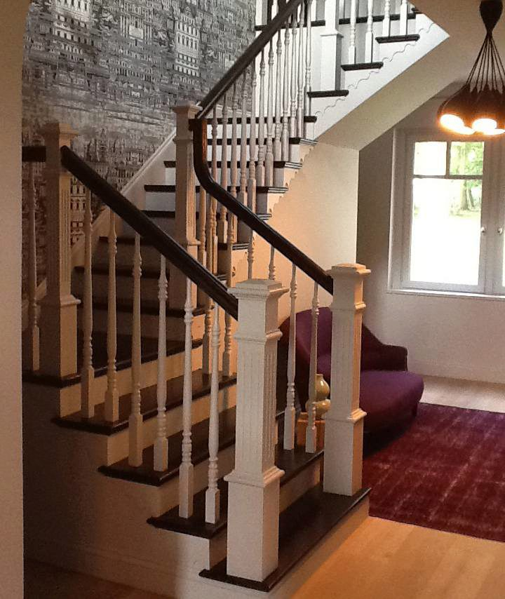 Beautiful Interior Staircase Ideas And Newel Post Designs: 4891 Primed Fluted Box Newel