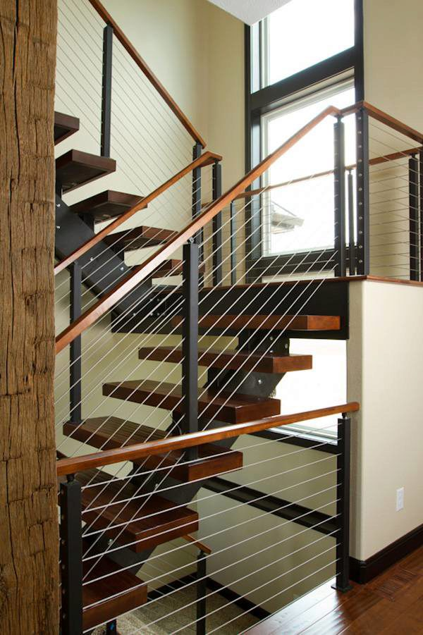 Project 60 Cable Railing With Wood Handrail