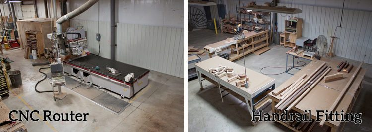 CNC Router & Handrail Fitting Assembly