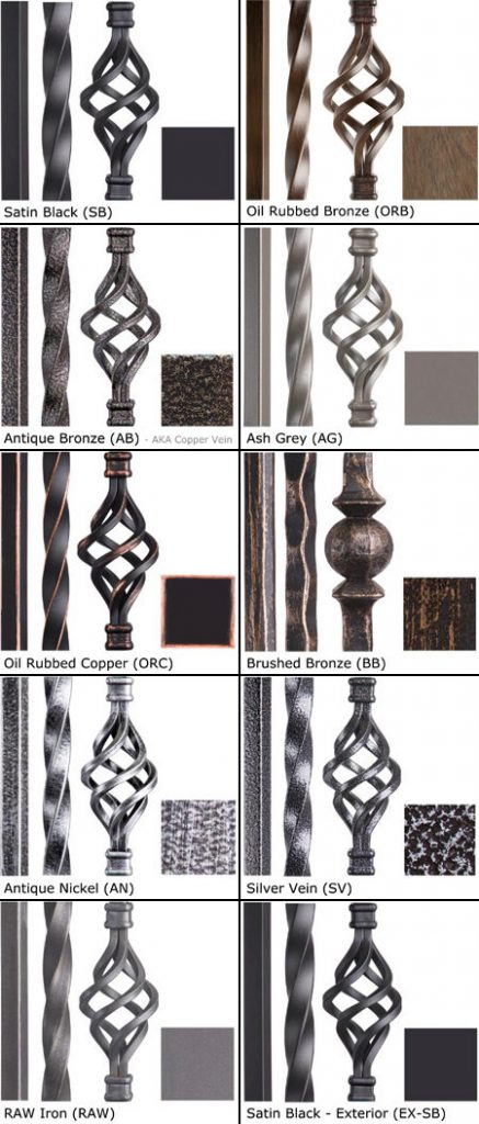 Iron Baluster Finishes