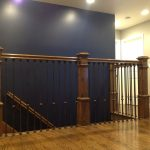 Box Newels & Wrought Iron Balusters