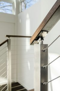 6000 Handrail with Cable Railing