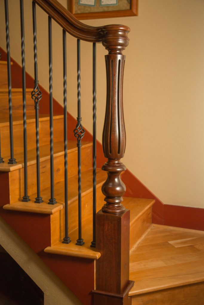 Iron Balusters & Ornate Turned Newels