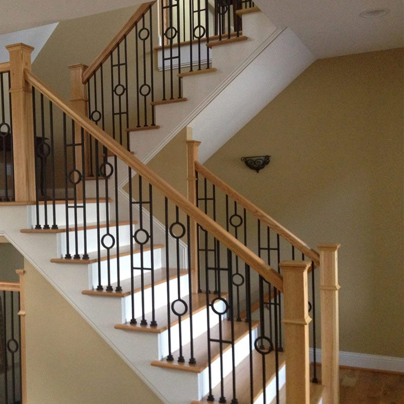 Top 70 Best Stair Railing Ideas: Choosing Wood Or Wrought Iron Balusters For Your Home