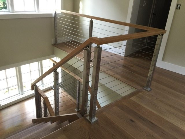 Project 158 cable railing handrail solutions for Stair and railing solution