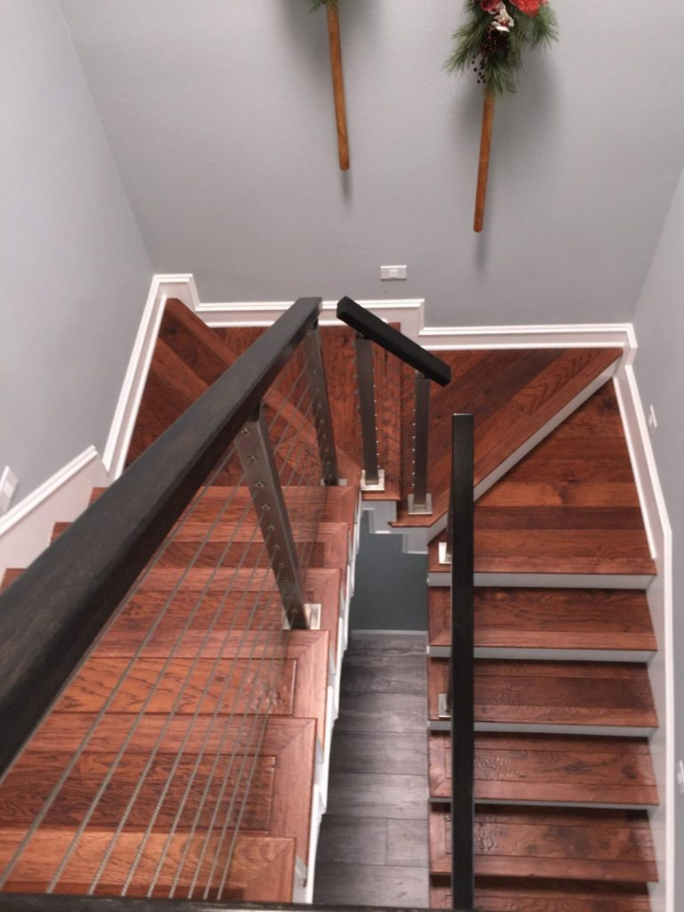 ... Cable Railing Project U0026 Winder Treads