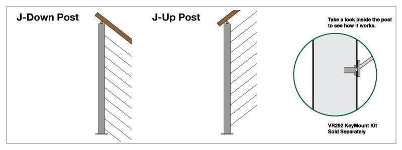 surface mount universal top 2 u0026quot  square post