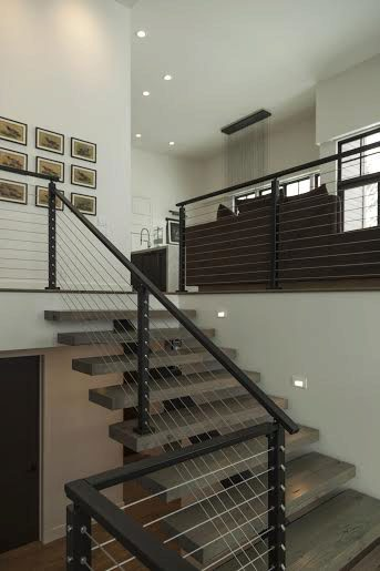 Cable Railing & Floating Stairs