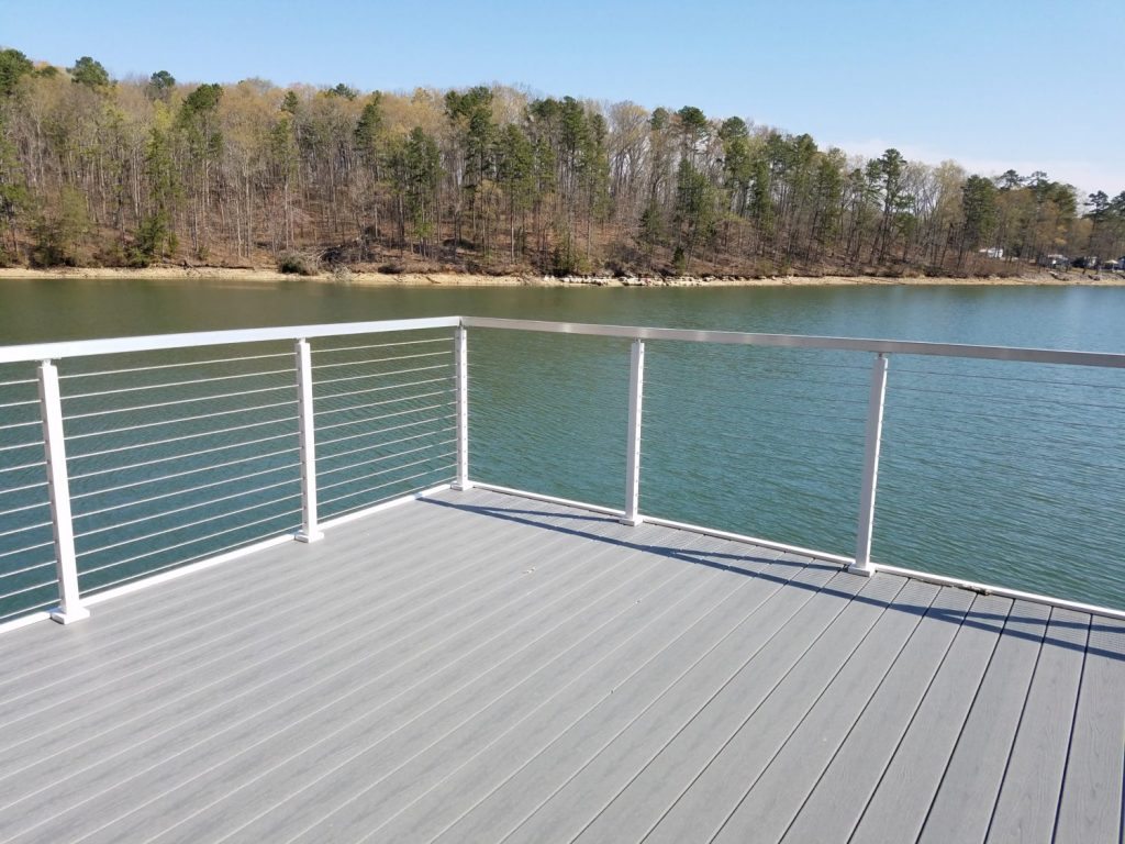 White Cable Railing Posts