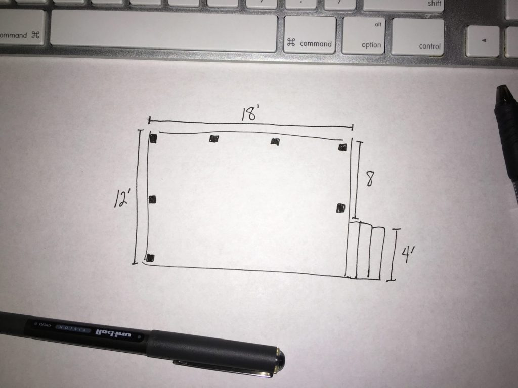 DIY Cable Rail Drawing 1