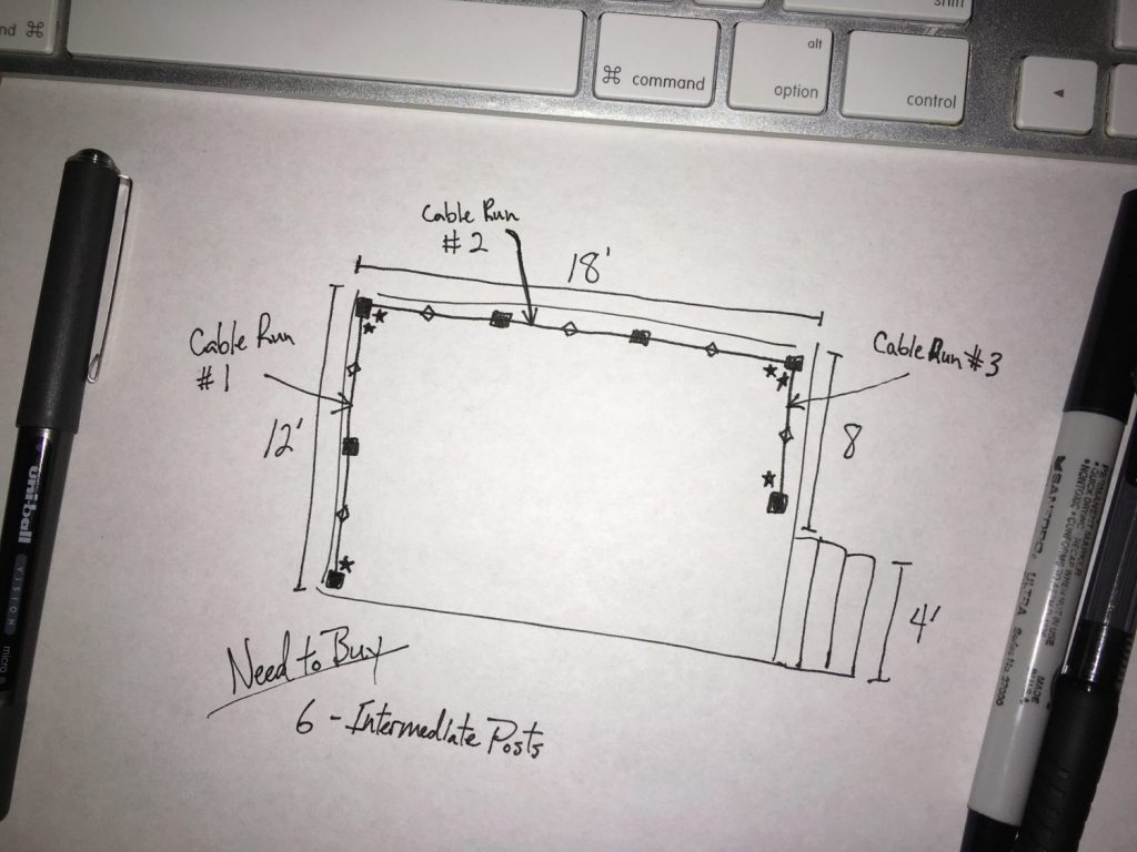 DIY Cable Rail Drawing 3