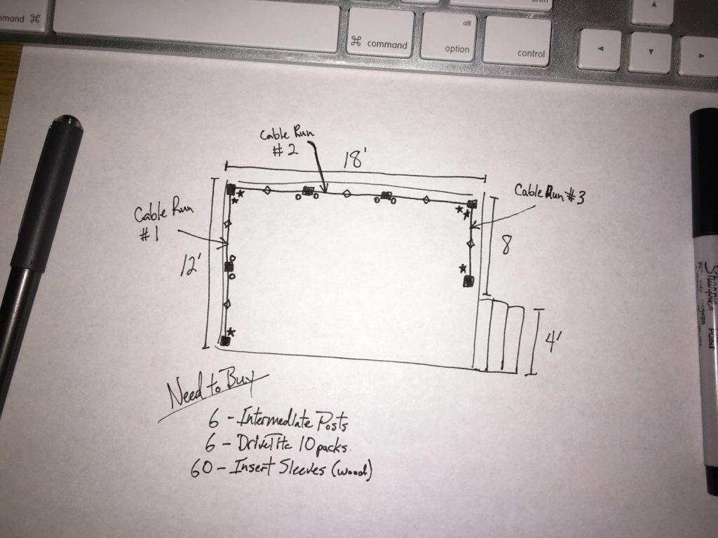 DIY Cable Rail Drawing 4
