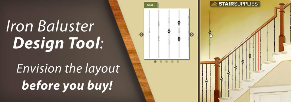 Iron Baluster Design Tool: Envision the layout before you buy!