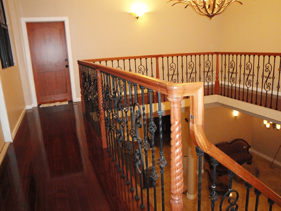 Featuring The 4444 Pin Top Rope Twisted Newel From Victorian Series This Stairway Is Sophisticated And Ornate Turned Newels Are Especially Por