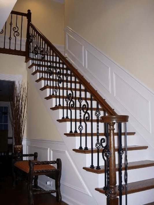 Volutes The Swirl On Handrail You See At Bottom Are Very Commonly Used With Our Turned Newels This Project Uses A Beautiful 4010 Pin Top From