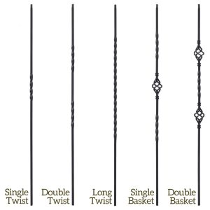 Twist Series Iron Balusters