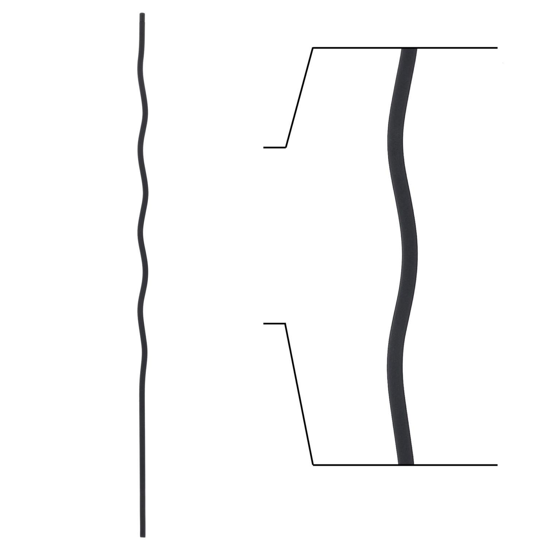 16 1 36 Wave Iron Baluster Stairsupplies