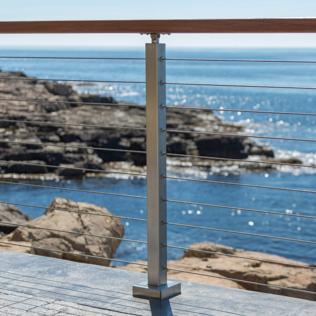 Surface Mount Cable Railing Posts