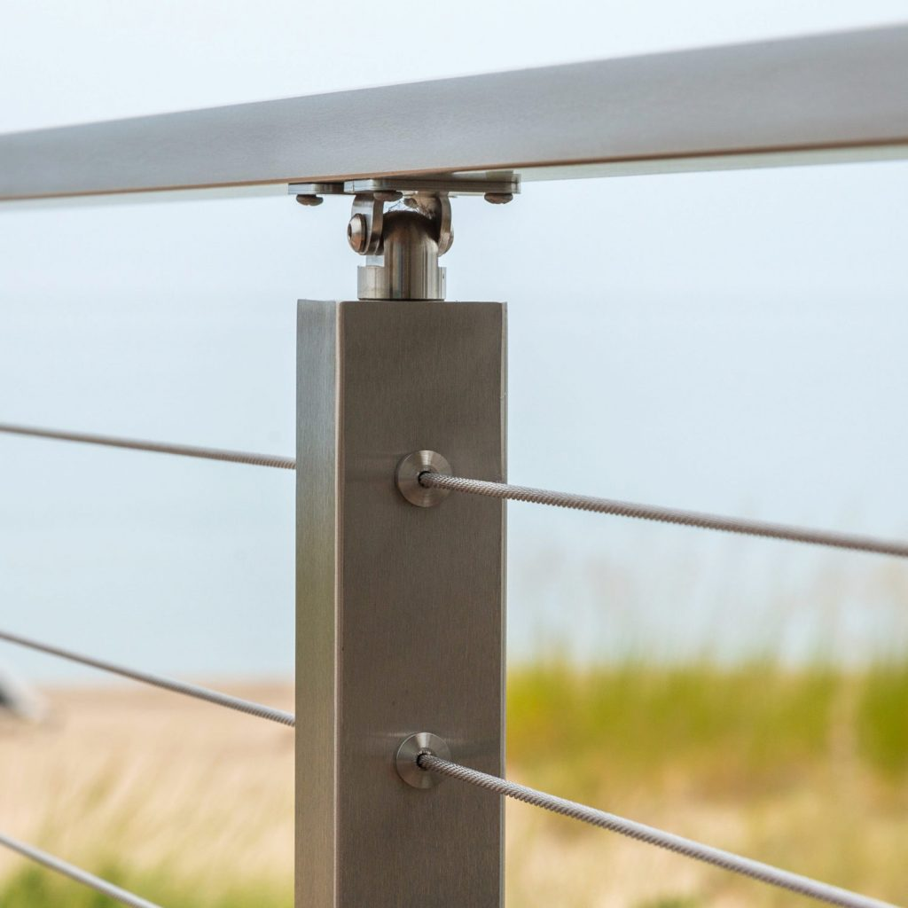 Cable Railing Posts Stainless Steel Amp Powder Coated Posts