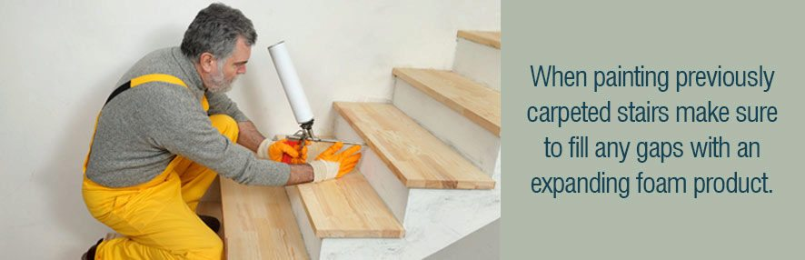how to fix gaps in wood stairs