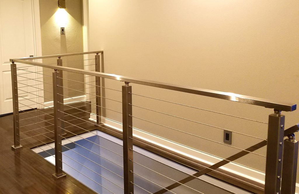 Brushed Stainless Steel Railing