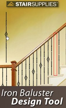 Elegant Create Your Staircase With Our Customized Iron Baluster Design Tool.